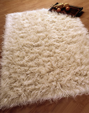 Flokati Rug White Home Decor